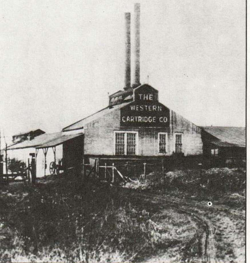 The first manufacturing building of the Western Cartridge Company was erected on the south bank of the Wood River in 1903. The Equitable Powder Manufacturing Company, first of the Olin enterprises, was built on the north side of the stream in 1892. Olin Works at East Alton now covers 1,700 acres. Internationally known, it is diversified in chemicals, metals and applied physics, electronic materials and services, aerospace/defense, and water quality management. Olin Brass and Winchester are headquartered at East Alton.