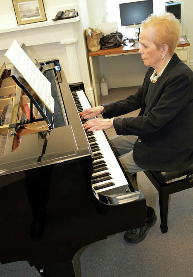 Pianist Barbara Kramer is an adjunct piano instructor at Lewis and Clark Community College, and has been the chair of the Alton Area Piano Guild Auditions for nearly three decades. Photo: Vicki Bennington/For The Telegraph