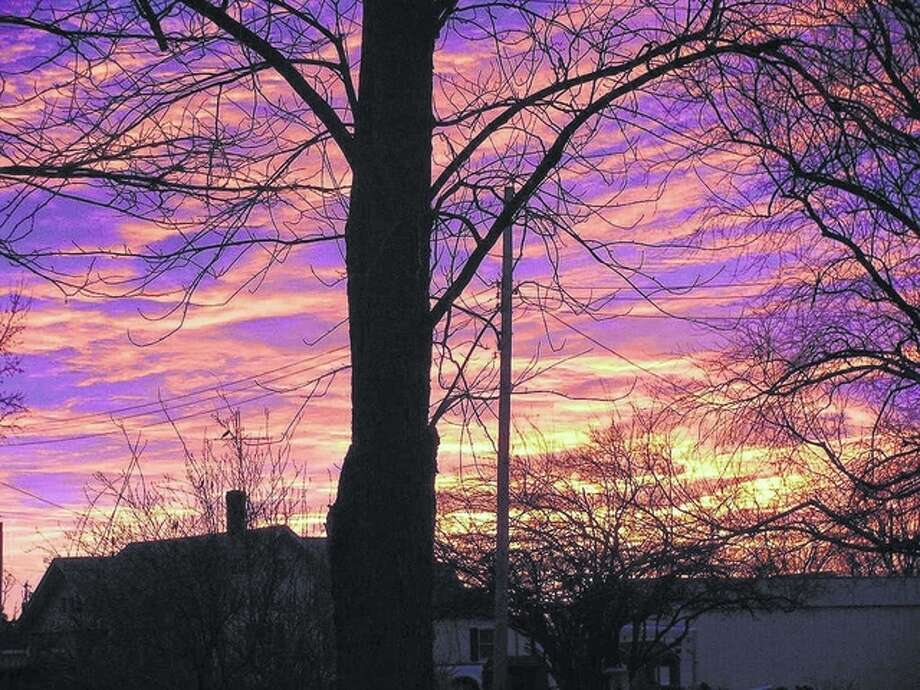 Beverly Watkins   Reader photo Sunrise colors the morning sky over Scottville.