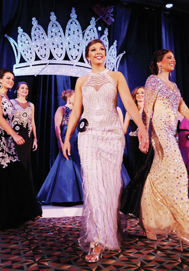Miss Morgan County Fair Queen Abby Tomhave competes Saturday in Springfield during the 2016 Miss Illinois County Fair Queen Pageant. The pageant finals are tonight. Photo: David Blanchette | Journal-Courier