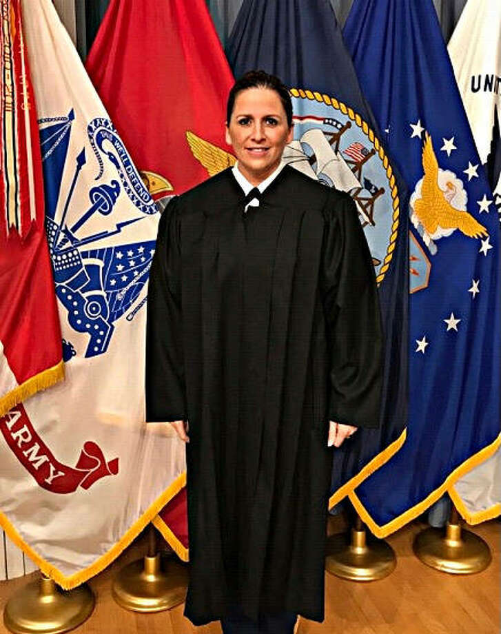 Sarah Smith-Raschen recently was certified as a military judge by the judge advocate general of the the U.S. Army. Photo: For The Telegraph