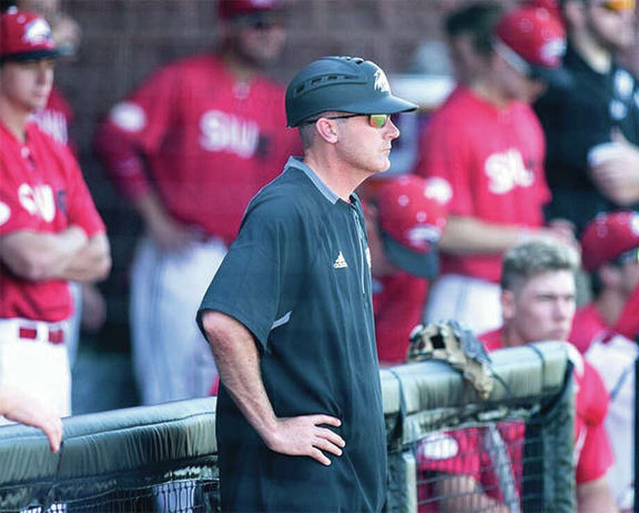 SIUE coach Sean Lyons' Cougars baseball team finished its season Saturday with a loss to Jacksonville State in Oxford, Alabama. SIUE went 23-29, its most wins since 2012. Photo: SIUE Athletics