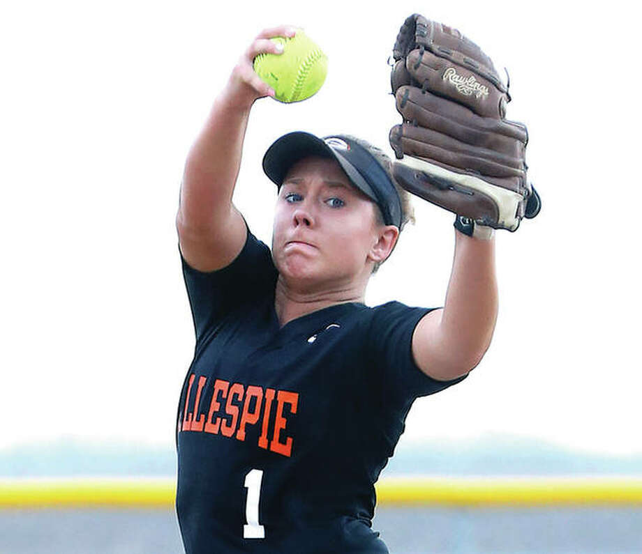 Gillespie's Addison Bryant pitched the Miners past Hillsboro Monday in the championship game of the Class 2A regional at Ben-Gil Elementary School. Photo: File Photo