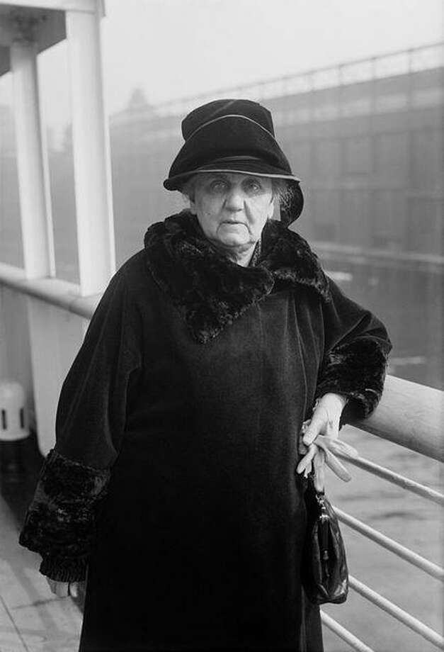 Photo of Jane Addams. This image by Bain News Service, restoration by Adam Cuerden, is available from the United States Library of Congress's Prints and Photographs division.