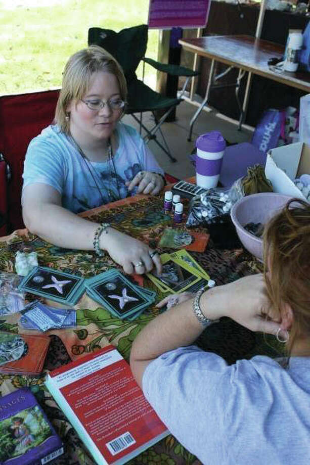 Medium Amanda Dowel doing angel and animal oracle card readings. Photo: Submitted Art/For The Telegraph