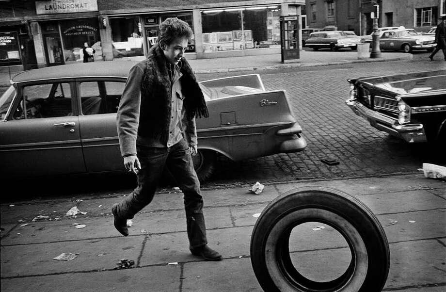 Bob Dylan: Jim Marshall (1936-2010),Bob Dylan, Greenwich Village, NYC,Signed silver gelatin print, 20 x 24 in. Photo: Courtesy ACA Galleries, New York, Copyright: Jim Marshall Photography LLC