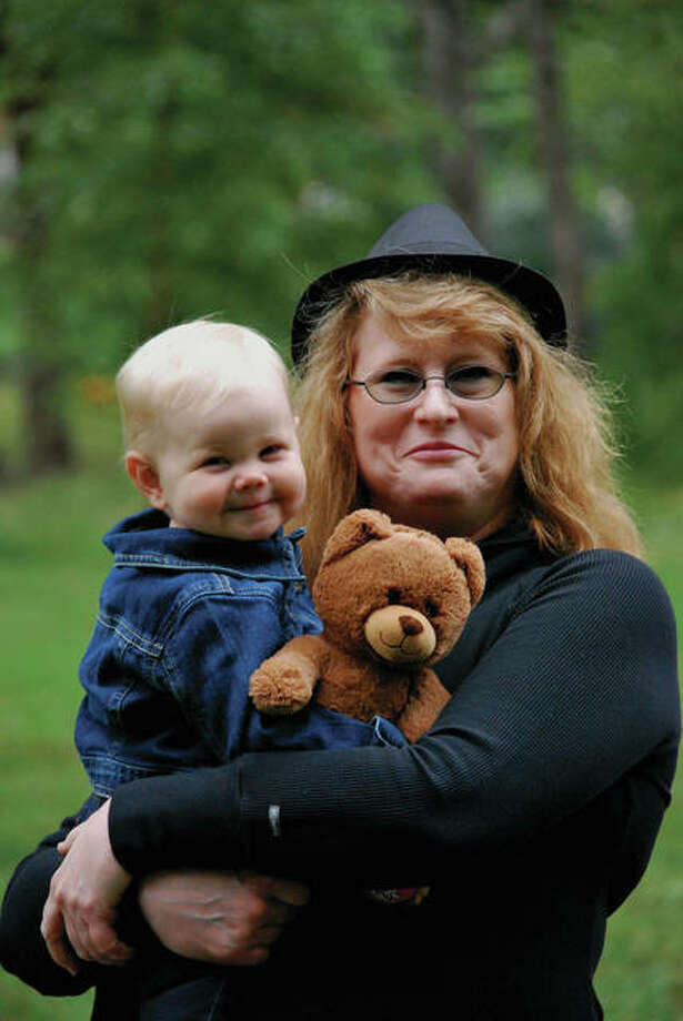 Karen Kadell Childers with her granddaughter, Josie. Photo: Sondi Smith/For The Telegraph
