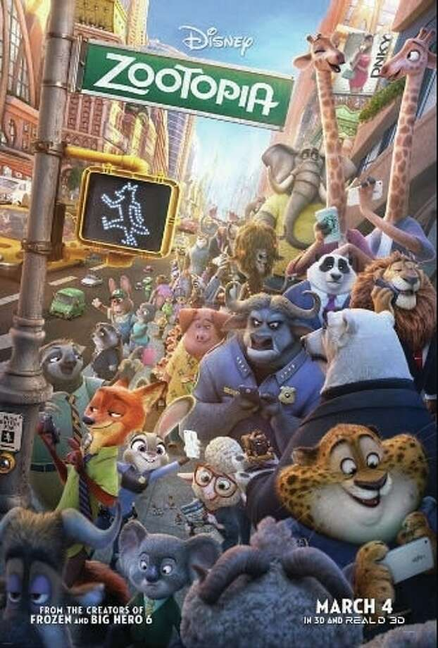 "Adults and older kids will enjoy the story of ""Zootopia,"" and the little ones will love the cute animated animals scurrying across the screen, especially Judy Hopps, the star of the film (voiced by Ginnifer Goodwin). Photo: Walt Disney Pictures 