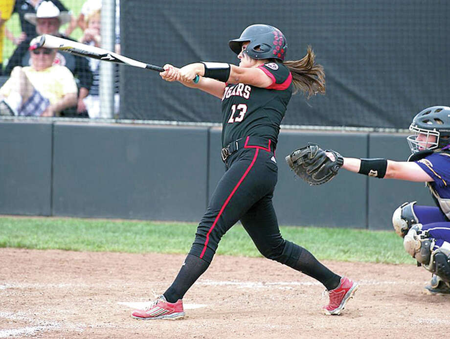 SIUE's Allison Smiley hit a pair of home runs Friday as the Cougars split a pair of games in the Spartan Invitational Tournament in Spartanburg, S.C. Photo: SIUE Athletics