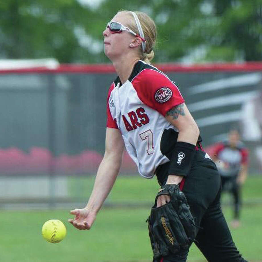 SIUE sophomore pitcher Baylee Douglass had seven strikeouts in four innings of relief Sunday in the Cougars' loss at Spartanburg, S.C.