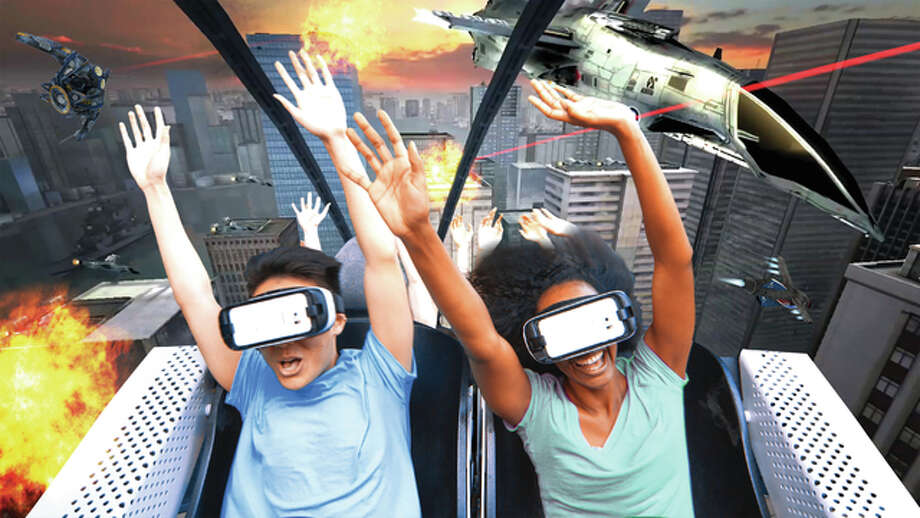 "Six Flags Entertainment Corp. and Samsung Electronics America Inc. now share a broad marketing partnership which appoints Samsung as the ""Official Technology Partner"" of the world's largest regional theme park company. Six Flags and Samsung will launch the new VR Roller Coasters beginning this month and into the summer, totaling nine coasters across the U.S., including Six Flags St. Louis. Photo: Courtesy Six Flags Entertainment Corp. 