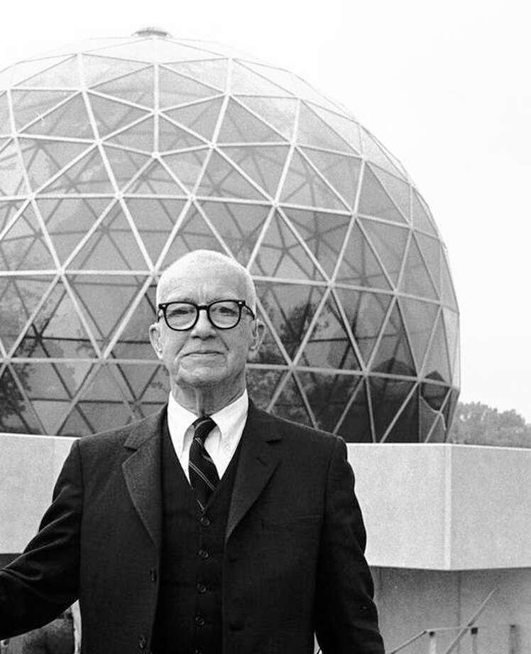 R. Buckminster Fuller, an American architect, systems theorist, inventor and legendary designer.