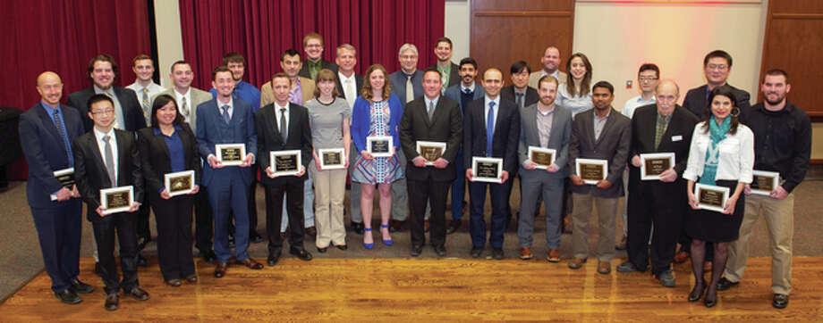 SIUE School of Engineering award winners.