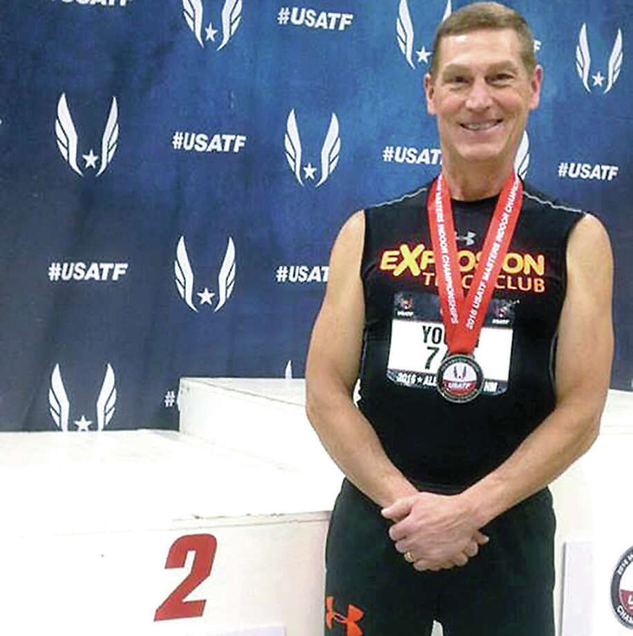 Wood River native Mike Young competed against some of the best age group athletes in the nation recently at the USATF Master Indoor Championships in Albuquerque, New Mexico. Photo: Submitted Photo