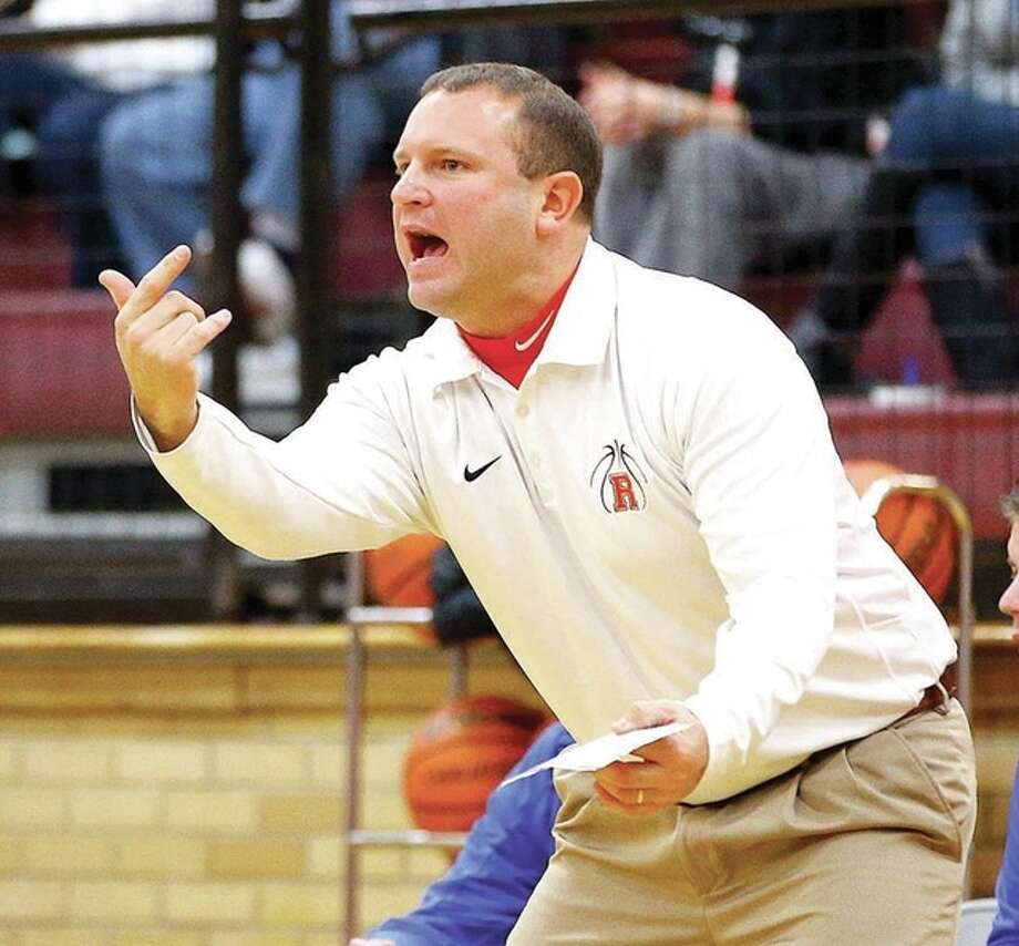 Roxana head coach Mark Briggs was named the Boys Coach of the Year by the Carlinville Rotary Club at its annual All-Star Games Sunday. Photo: Billy Hurst | For The Telegraph