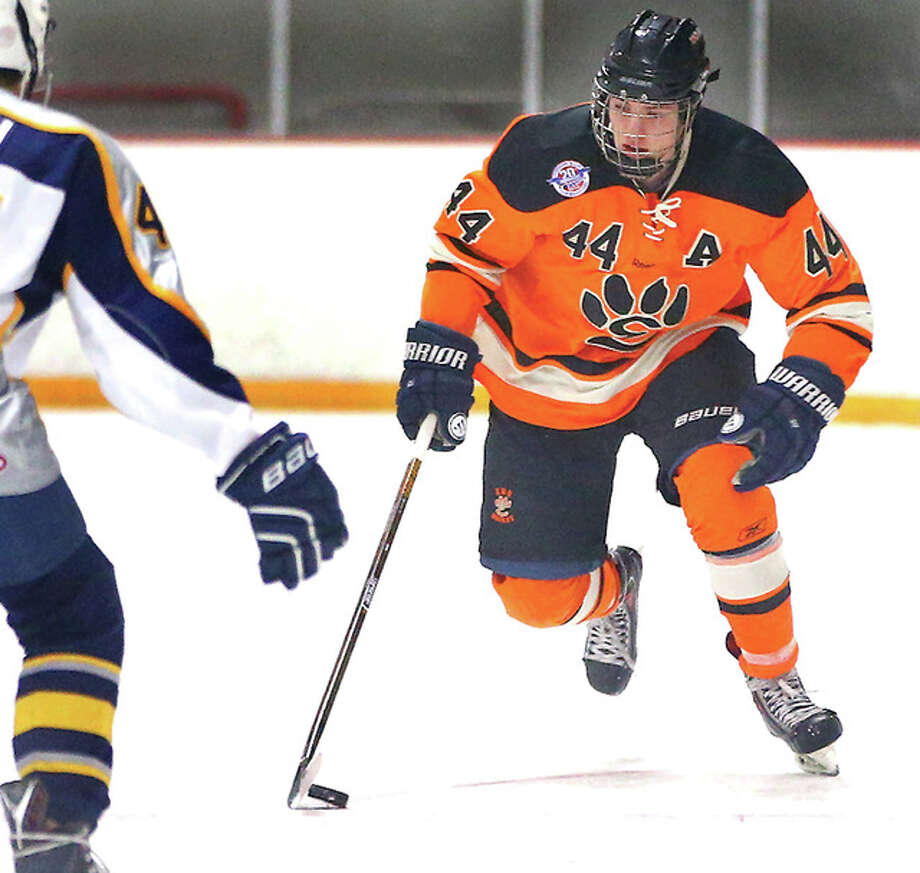 Edwardsville's Tyler Schaeffer led the USA High School National Hockey Tournament in total points with 15, including seven goals and eight assists in four games. The Tigers advanced to the quarterfinals and finished the tourney with a 3-1 record.