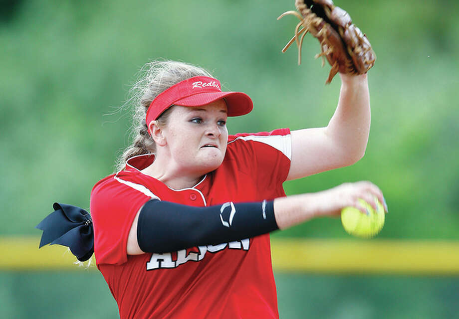 Alton's Brittany Roady tossed a two-hitter in Tuesday's 4-2 home Southwestern Conference win over O'Fallon. Photo: Billy Hurst File Photo | For The Telegraph