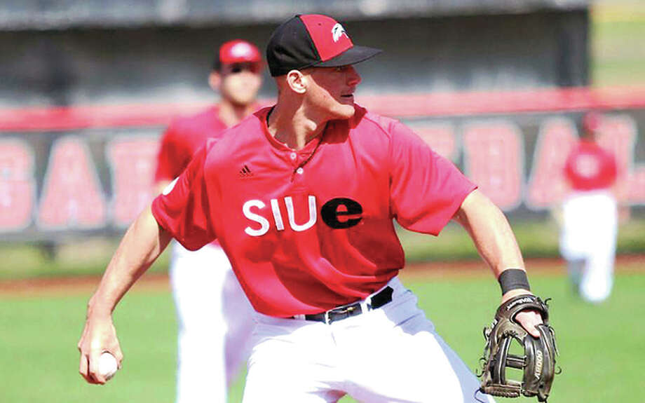 Jacob Stewart of SIUE was 2 for 3 with a run scored in an RBI in Friday night's 9-5 loss to Southeast Missouri State University in Cape Girardeau. Photo: SIUE Athletics