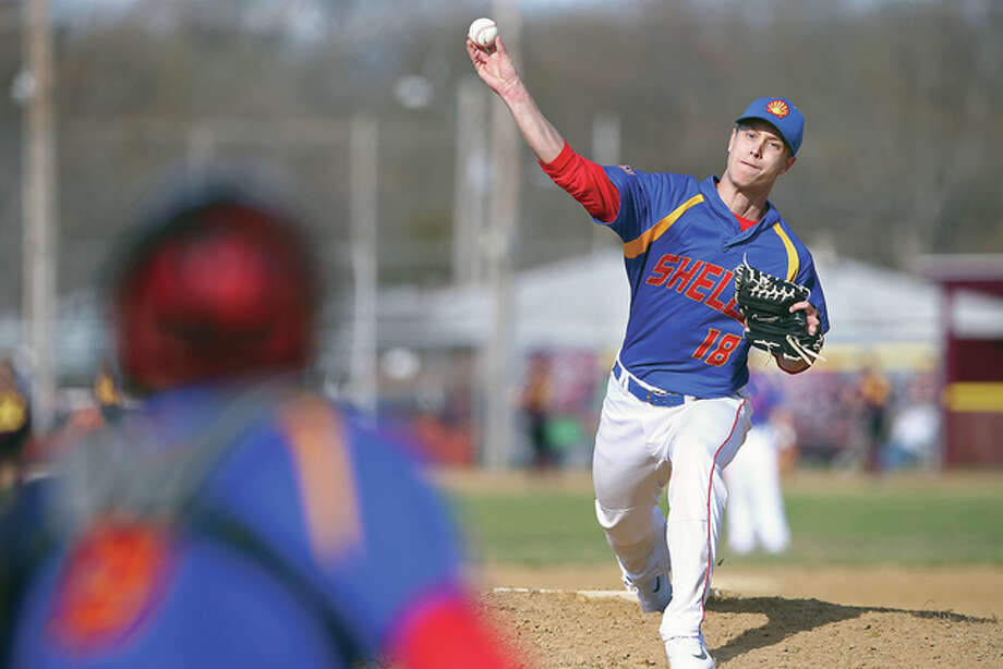 Roxana pitcher Tanner Davis had three strikeouts during his team's 8-3 victory over Greenville in South Central Conference action Monday. Photo: Billy Hurst File Photo | For The Telegraph