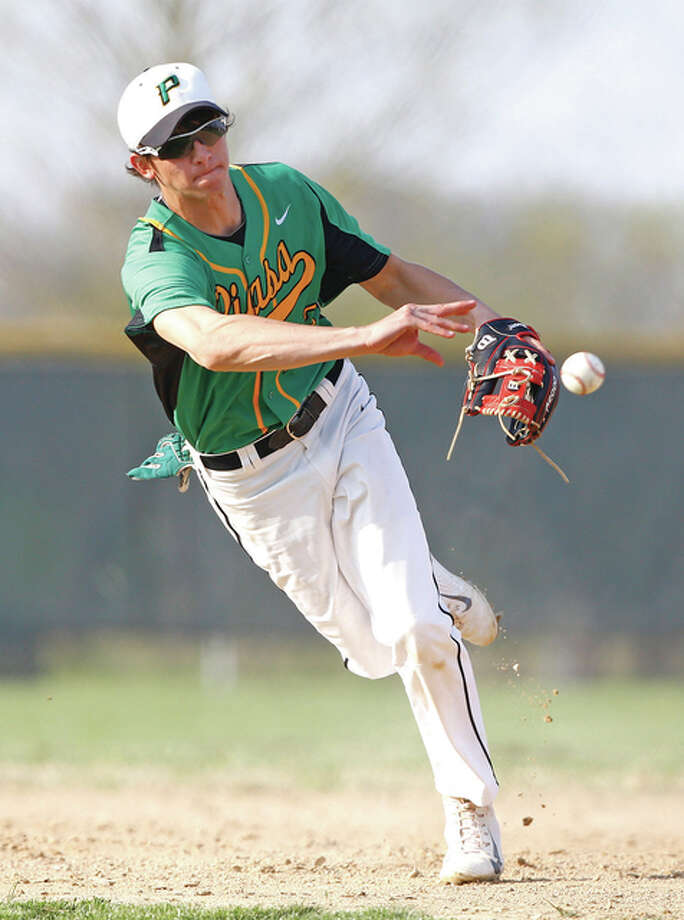 Southwestern's Scott Kasting had two doubles and four RBIs in Saturday's doubleheder sweep of Calhoun in Brighton. Photo: Telegraph File Photo