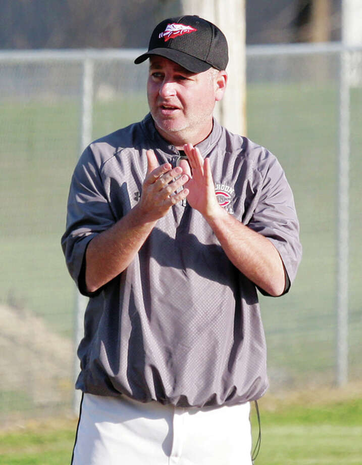 The halt of a three-game losing streak for Calhoun baseball delivered Warriors coach Casey Longnecker career victory No. 300 on Friday when the Warriors beat the East Alton-Wood River Oilers 16-6 in six innings in Hardin. EA-WR cut a 7-2 deficit to 7-6 with three runs in the top of the fifth inning, but Calhoun responded with four runs in the bottom of the fifth and ended it with five runs in the sixth. Longnecker is in his 17th season as coach at his alma mater and owns a 300-230 record. Calhoun enters the week at 7-8. Photo: James B. Ritter / For The Telegraph