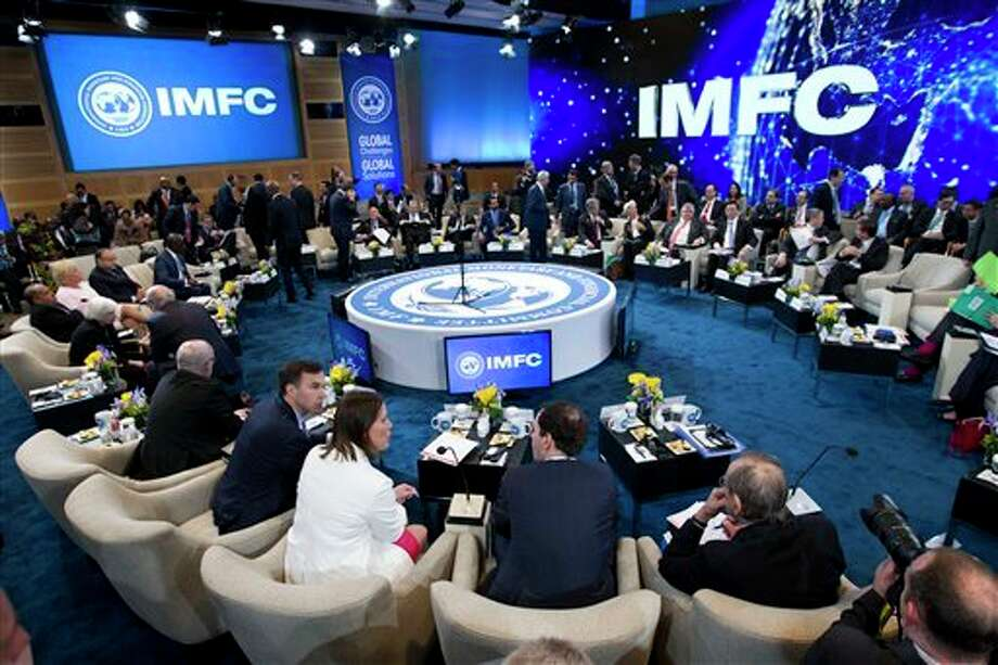 The International Monetary and Financial Committee (IMFC) conference, during the World Bank/IMF Spring Meetings at IMF headquarters in Washington Saturday.