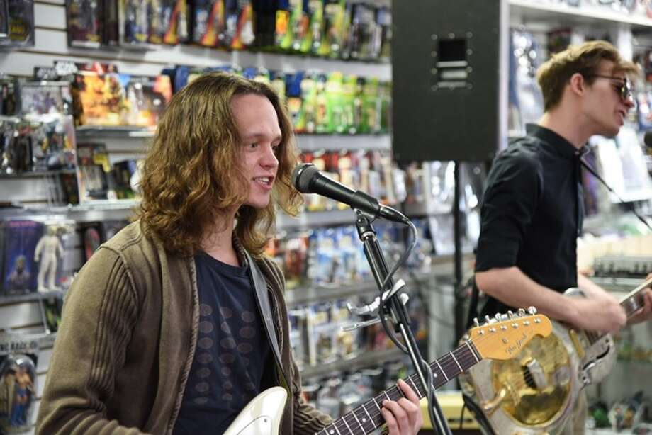 Local rock group Maury Ave. kicked-off the in-store music performances at Slackers in Alton Saturday in celebration of Record Store Day.