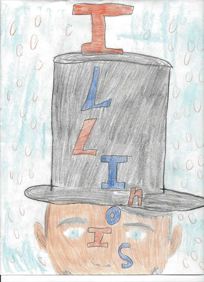 "First place — Mylie Corso, fifth grade at VisionWay Christian School, ""Illinois,"" in State Rep. Avery Bourne's, R-Raymond, annual art contest. Photo: For The Telegraph"