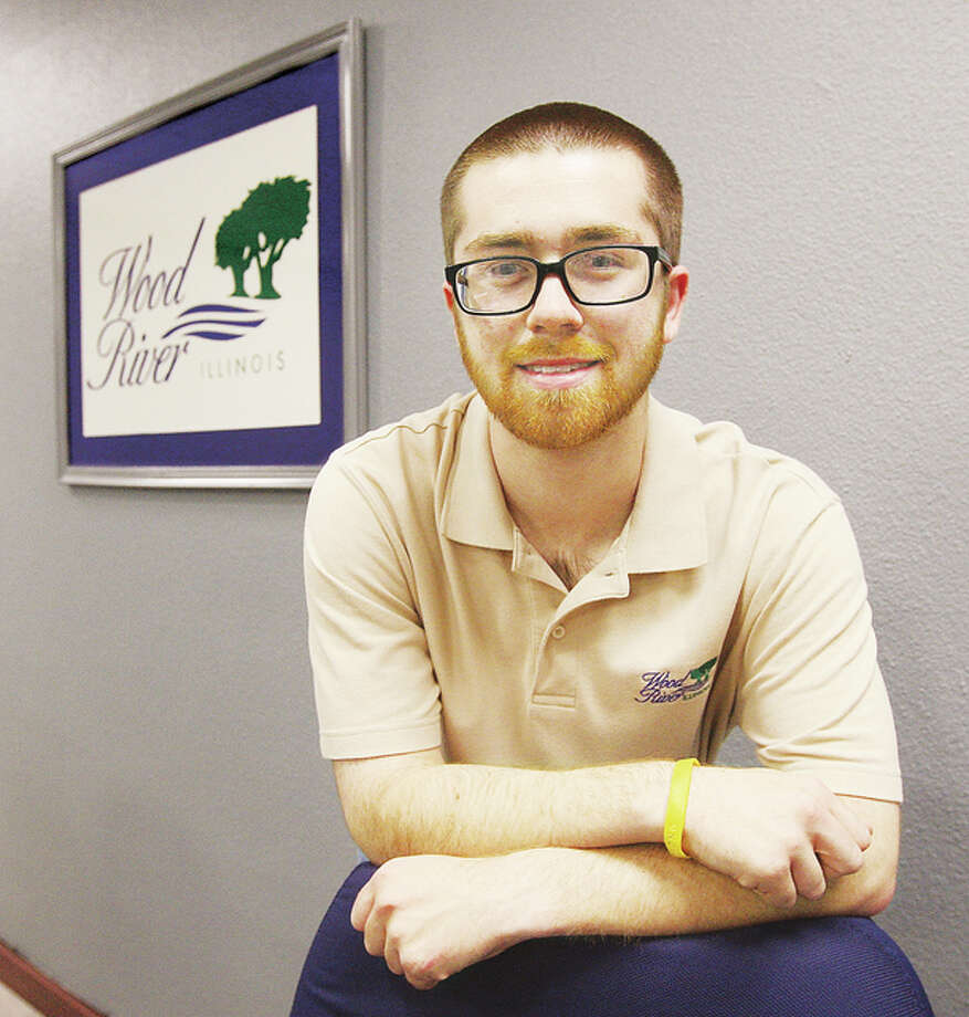 Scott Miner, 21, will run for mayor of Wood River in next April's election.