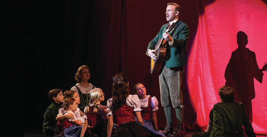 Ben Davis as Captain Georg von Trapp, Kerstin Anderson as Maria Rainer with the von Trapp children. Photo: Photo Credit: Matthew Murphy | For The Telegraph