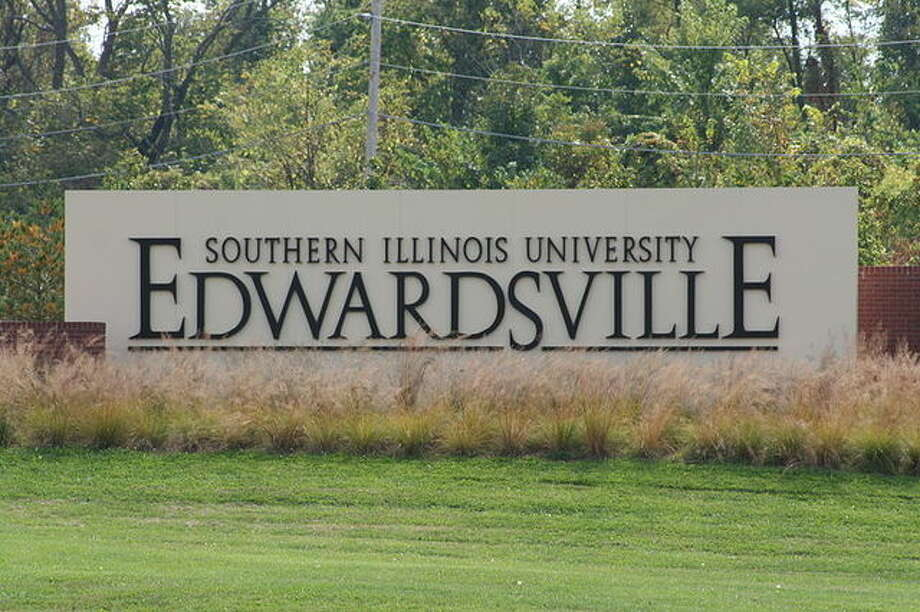 An entry sign at SIUE.