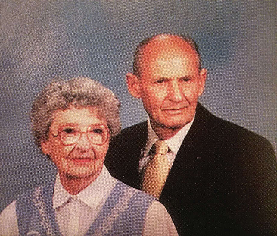 "Leon and Mildred ""Minnie"" Corlew, pictured in a 1994 church directory."