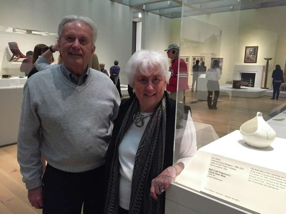 Charles and Joan Sheppard donated an Eva Zeisel ceramic sauce boat they received as a wedding gift in 1953 to the St. Louis Art Museum. The piece was on display last fall and winter during its St. Louis Modern: The Era of Innovative Design exhibition.