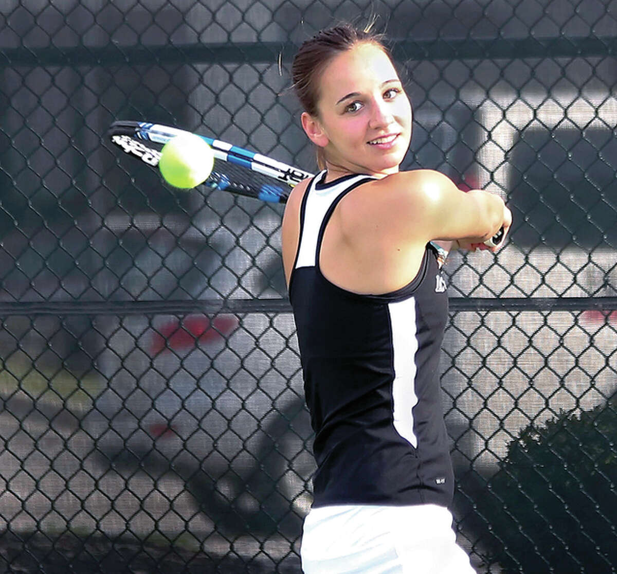 Sophomore Mel Schlaeger will transfer from LCCC to St. Francis College in Joliet next season.