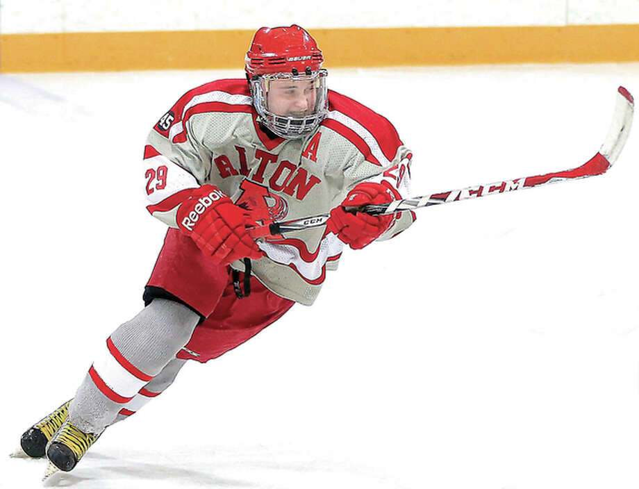 Former Alton High Redbirds forward Jake Cunningham will play at SIUE next season, following a year of junior hockey with the Decatur Blaze.