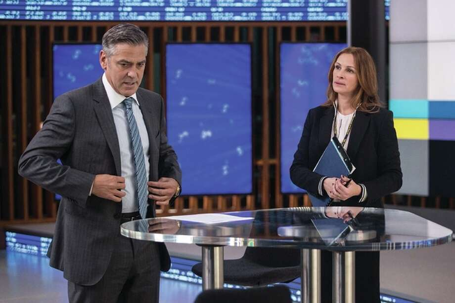 "George Clooney plays Lee Gates and Julia Roberts plays Patty Fenn in TriStar Pictures' ""Money Monster."" Photo: Photo Credit Atsushi Nishijima - ©2016 CTMG Inc. All Rights Reserved. Sony Pictures Entertainment Inc. 