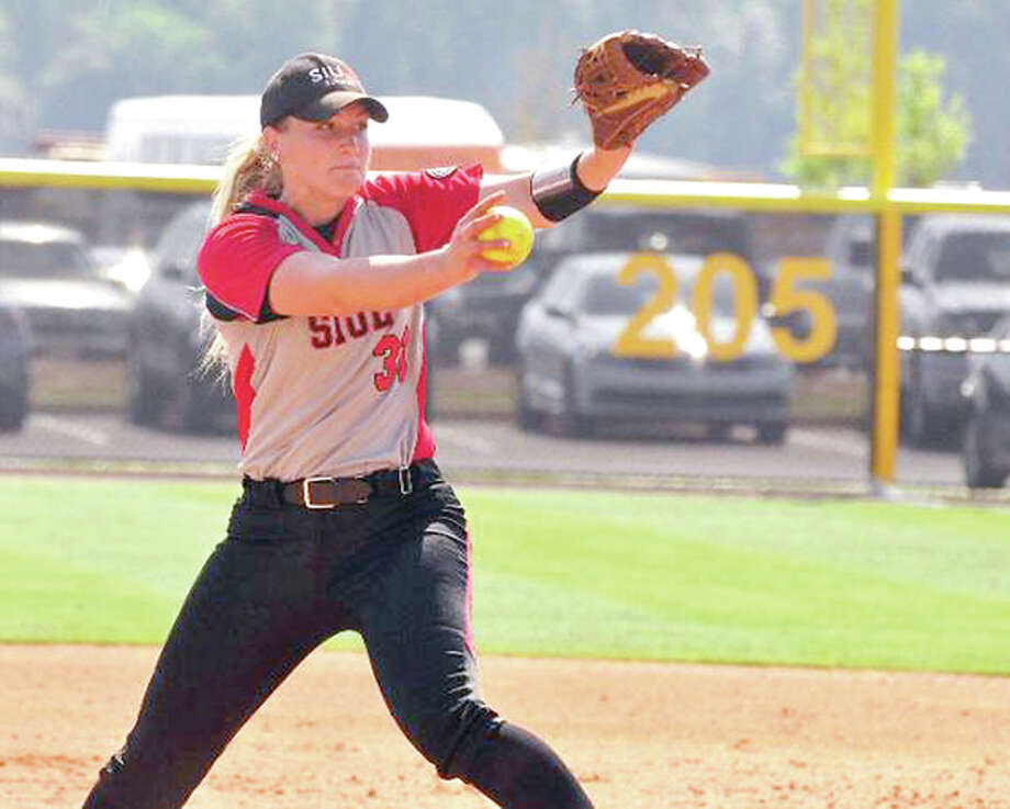 SIUE pitcher Ashley Koziol delivers a pitch Wednesday against Tennessee-Martin in the Ohio Valley Conference Tournament in Oxford, Ala. Photo: Alex Boggis, UT Martin Sports Information