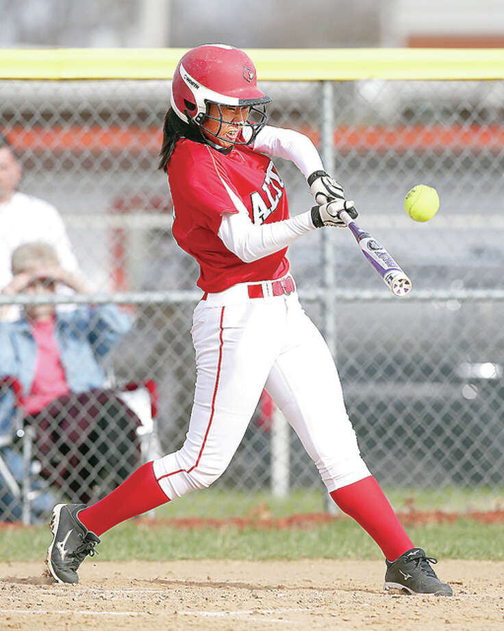 Alton's Tami Wong had an RBI in her team's Southwestern Conference matchup against Belleville East Friday. The Lancers beat Alton 4-2.