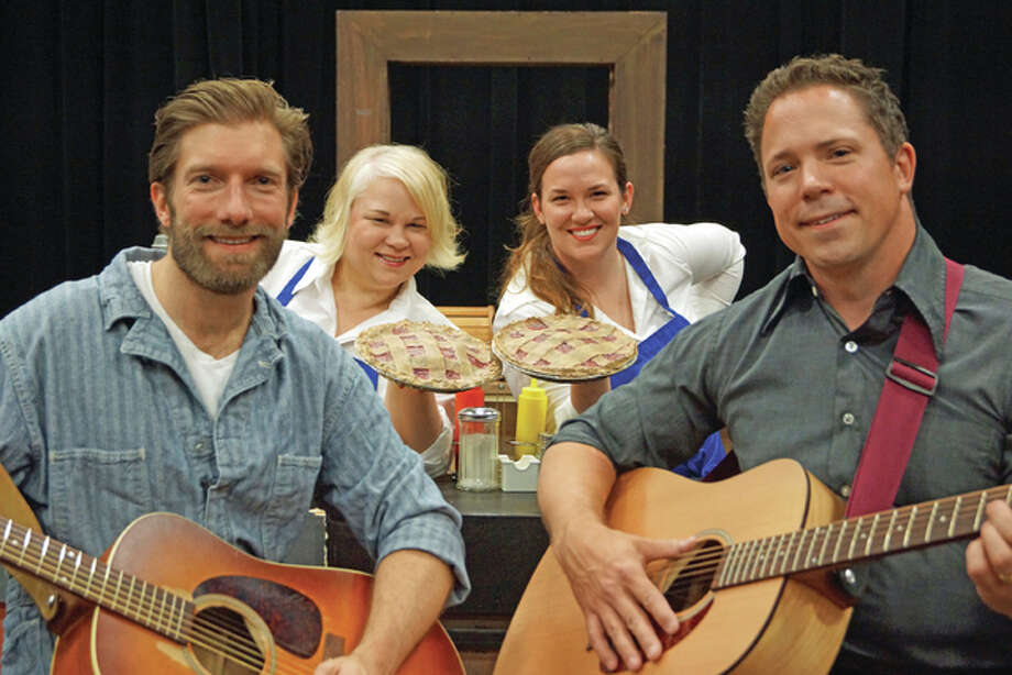 """Mike Sonderegger, Joy Powell, Melissa Harlow and Marc Schapman in Southern Illinois University Edwardsville's """"Pump Boys and Dinettes."""" Valerie Goldston 