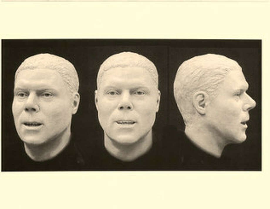 Reconstructed head and face of mummified remains found in Alton in 2014. Source: National Missing and Unidentified Persons System website.