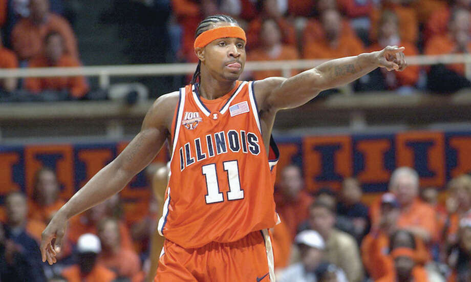 Former Fighting Illini basketball star Dee Brown, shown playing during the 2005 season, is joining the university's basketball staff. Coach John Groce has named him the team's director of player development and alumni relations Photo: Fighting Illini Athletics
