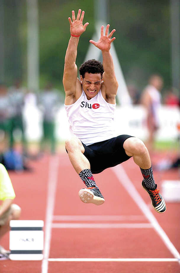 SIUE's Julian Harvey, of Edwardsville Julian Harvey has qualified for the NCAA West preliminaries in the long jump, triple jump and high jump. It is the second time in Harvey's career he has qualified for all three jumps events.