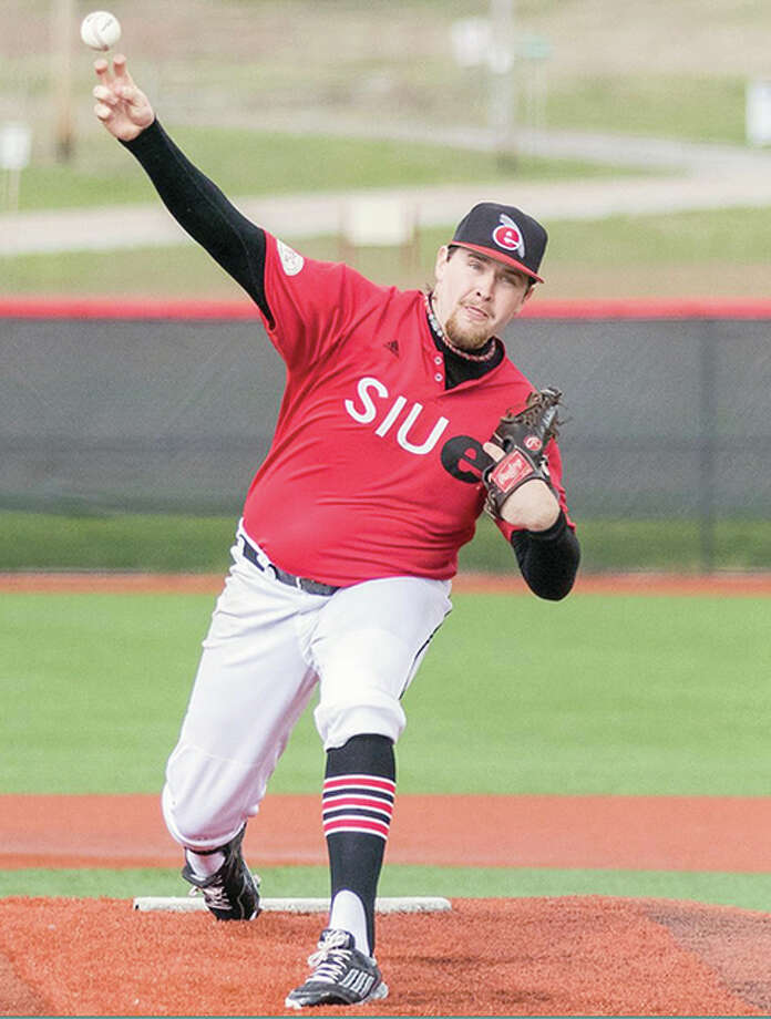 SIUE's P.J. Schuster tossed his first complete game Thursday, but it came in a 3-2 loss to Eastern Illinois University in Charleston. Photo: SIUE Athletics