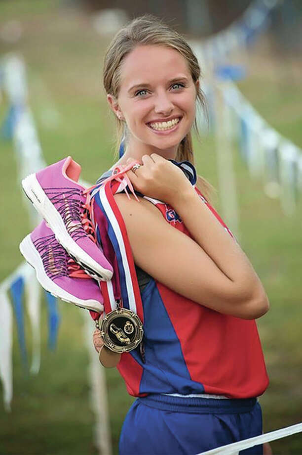 Carlinville senior Colleen Madden capped her prep career Saturday with a school-record and runner-up finish in the 3,200 meters at Class 1A state meet in Charleston. Photo: For The Telegraph