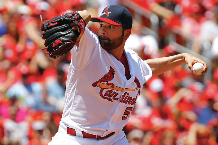 Cardinals starting pitcher Jaime Garcia throws during the second inning against the Arizona Diamondbacks on Sunday at Busch Stadium.