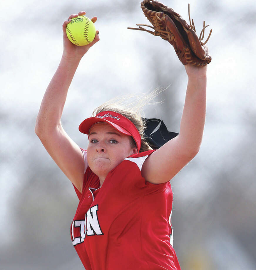 Brittany Roady got the win in Tuesday's 8-1 regional win over Collinsville, allowing one run on four hits, one walk and seven strikeouts. Photo: Billy Hurst File Photo | For The Telegraph