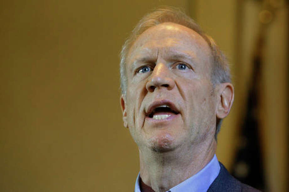 In this Monday, May 23, 2016 photo, Illinois Gov. Bruce Rauner speaks to reporters in his office at the Illinois State Capitol in Springfield, Ill. With just days before the scheduled adjournment date, Illinois lawmakers struggling to agree on their first budget in two years are also struggling with fixing public school funding. Rauner wants the Democratic-controlled General Assembly to send him school-funding legislation that increases education spending and ensures schools open - regardless of whether theres agreement on a budget. (AP Photo/Seth Perlman)