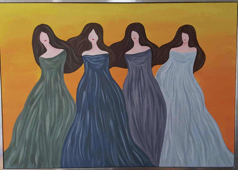 "Case, who designed apparel for major retailers, found a renewed passion in her art with the creation of a large piece called ""Four Sisters,"" pictured here. Photo: Ellen Connoyer Case 