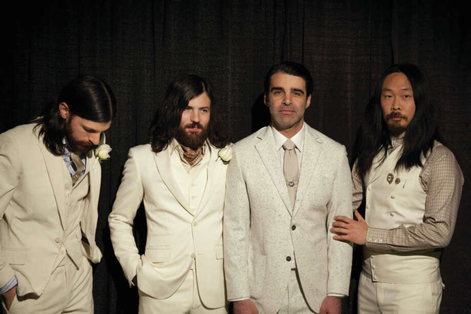 The Avett Brothers, made up of from left Seth Avett, Scott Avett, Bob Crawford and Joe Kwon.