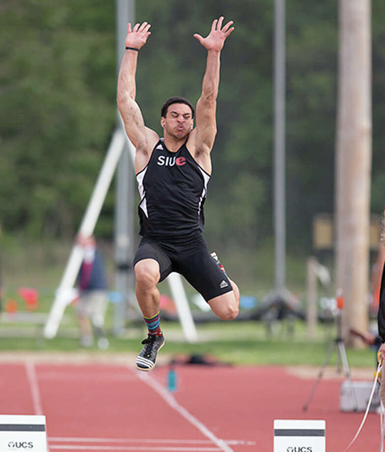SIUE men's track and field junior Julian Harvey will compete in the NCAA TRck championships at 8 p.m. Central Time Wednesday. Photo: SIUE Athletics